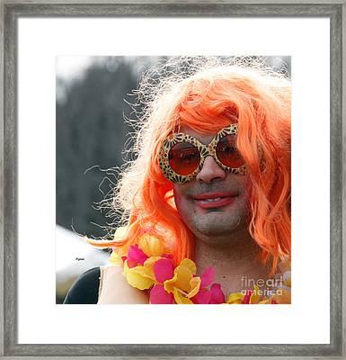 Portrait In Redhead Drag  Framed Print