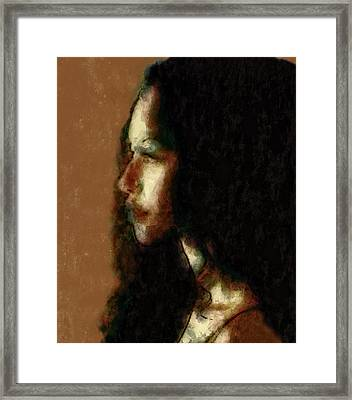 Portrait In Sepia Tones  Framed Print