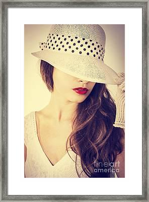 Portrait Framed Print by Jelena Jovanovic