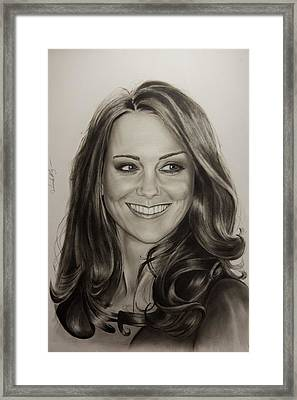 Portrait Kate Middleton Framed Print by Natalya Aliyeva