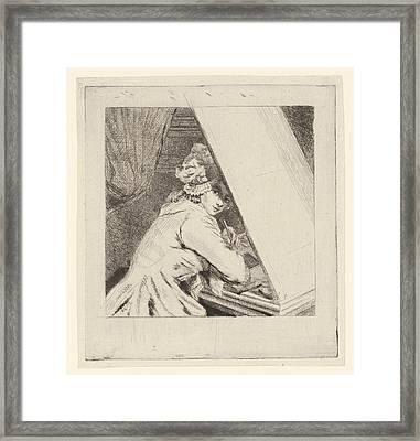 Portrait Marie-lambertine Coclers, Louis Bernard Coclers Framed Print by Louis Bernard Coclers