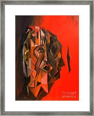 Portrait Mask Framed Print