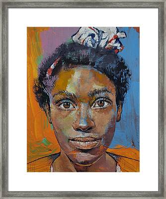 Portrait Of Toni Framed Print by Michael Creese