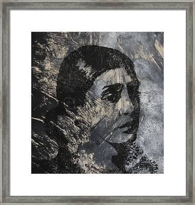 Portrait Monoprint Framed Print by Rachel Hames
