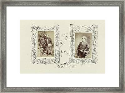 Portrait Neville Carter In Rustic Setting Framed Print by Artokoloro