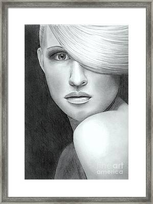 Portrait Framed Print by Nicola Butt