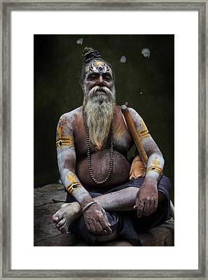 Portrait O Sadhu IIi Framed Print by Gilles Lougassi