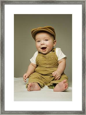 Portrait Of A Baby Boy Framed Print