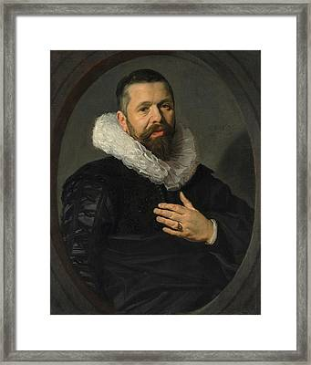Portrait Of A Bearded Man With A Ruff Framed Print