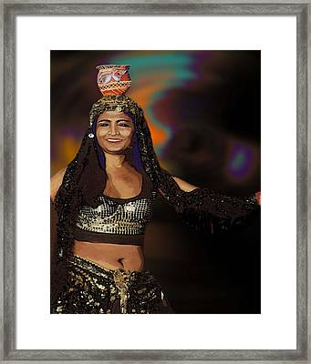 Portrait Of A Belly Dancer Framed Print