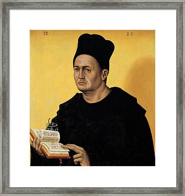 Portrait Of A Benedictine Abbot Framed Print by Italian School