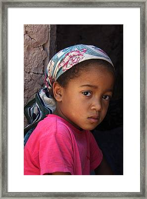 Portrait Of A Berber Girl Framed Print by Ralph A  Ledergerber-Photography