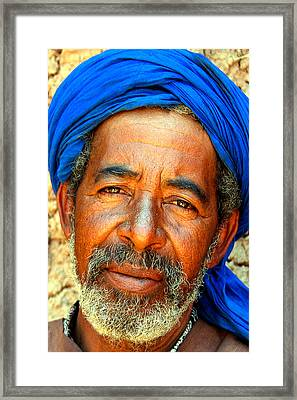 Portrait Of A Berber Man  Framed Print by PIXELS  XPOSED Ralph A Ledergerber Photography