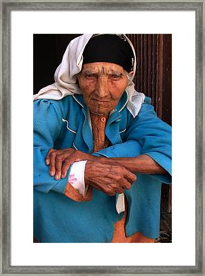 Portrait Of A Berber Woman Framed Print