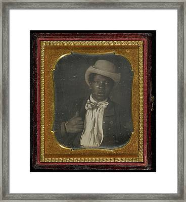 Portrait Of A Black Man Wearing A Bow Tie Unknown Maker Framed Print by Litz Collection
