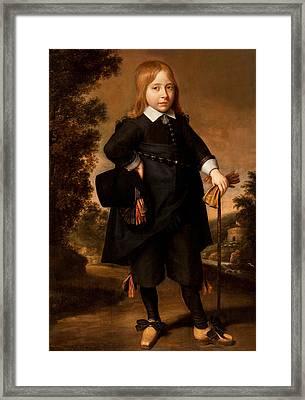 Portrait Of A Boy  Framed Print by French School