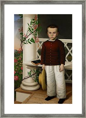 Portrait Of A Boy Framed Print by James B Read