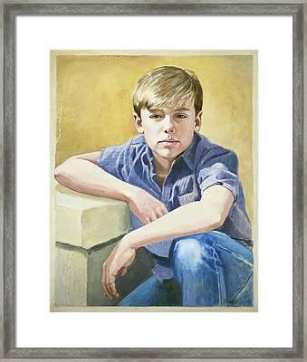 Portrait Of A Boy Framed Print