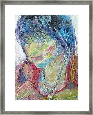 Portrait Of A Boy - Marcus Framed Print by Fabrizio Cassetta
