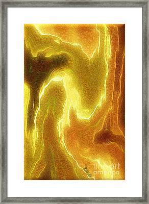 Portrait Of A Bright Soul - Spiritual Abstract Art By Giada Rossi Framed Print