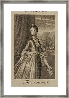 Portrait Of A Character From The Novel Framed Print by British Library