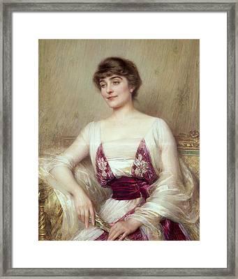 Portrait Of A Countess Framed Print by Albert Lynch
