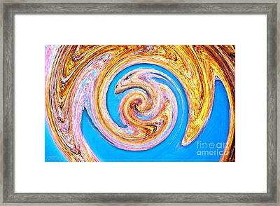 Framed Print featuring the digital art Portrait Of A Dragon by Cristophers Dream Artistry