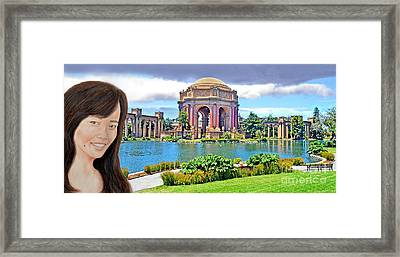 Portrait Of A Filipina Beauty Altered Version Framed Print by Jim Fitzpatrick