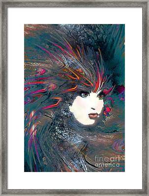 Portrait Of A Flamboyant Woman Framed Print by Doris Wood