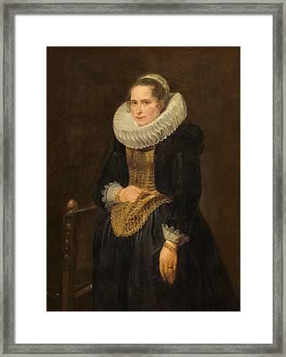 Portrait Of A Flemish Lady Framed Print by Anthony van Dyck