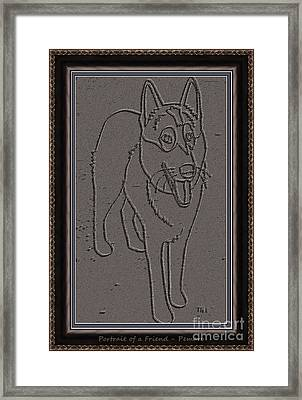 Portrait Of A Friend Poaf0000002 Framed Print by Pemaro