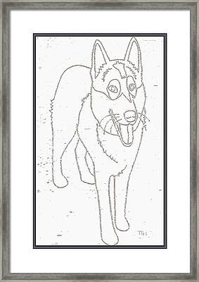 Portrait Of A Friend Poaf000001 Framed Print by Pemaro