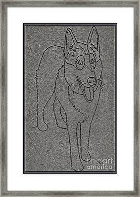 Portrait Of A Friend Poaf00001 Framed Print by Pemaro