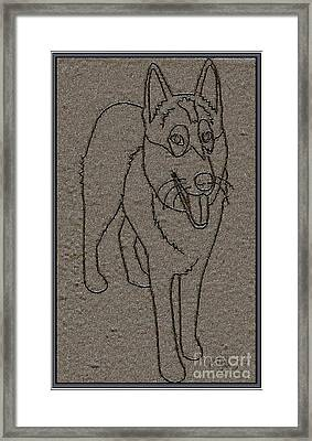 Portrait Of A Friend Poaf01 Framed Print by Pemaro