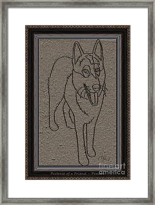 Portrait Of A Friend Poaf02 Framed Print by Pemaro