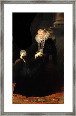 Portrait Of A Genovese Lady Framed Print