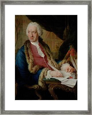 Portrait Of A Gentleman, 1767 Oil On Canvas Framed Print by Louis Gabriel Blanchet