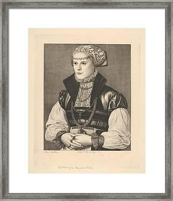 Portrait Of A German Lady Framed Print