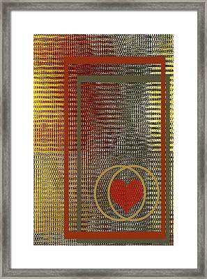 Portrait Of A Heart Framed Print by Ben and Raisa Gertsberg