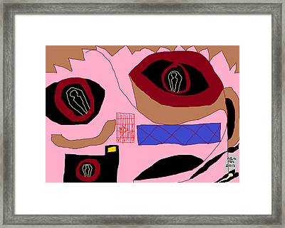 Portrait Of A Humanist As An Open Grave Framed Print by Anita Dale Livaditis