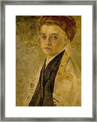 Portrait Of A Jewish Boy  Framed Print by Isidor Kaufmann