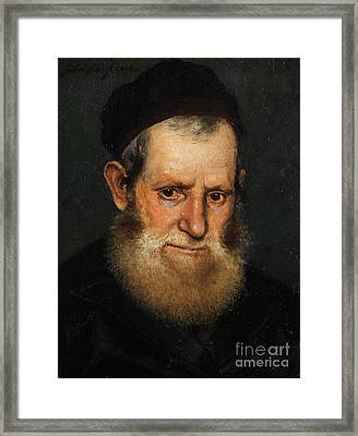 Portrait Of A Jewish Scholars Framed Print by Celestial Images