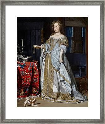Portrait Of A Lady Framed Print by Gabriel Metsu
