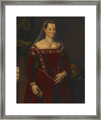 Portrait Of A Lady Framed Print by Jacopo Zucchi