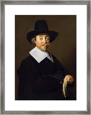 Portrait Of A Man, C.1643-45 Framed Print by Frans Hals