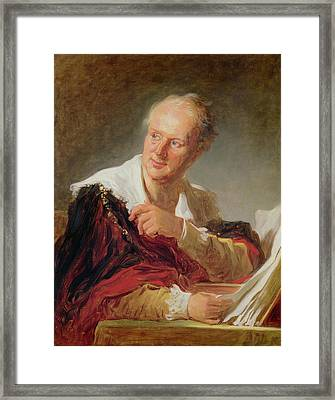 Portrait Of A Man, 1769 Framed Print by Jean-Honore Fragonard