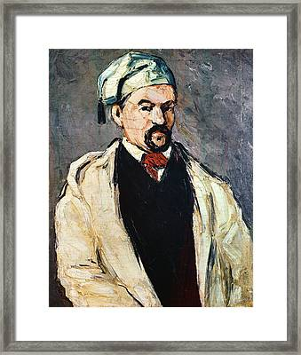 Portrait Of A Man In A Blue Cap, Or Uncle Dominique, C.1866 Oil On Canvas Framed Print by Paul Cezanne