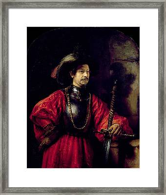 Portrait Of A Man In Military Costume Framed Print