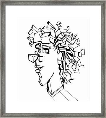 Portrait Of A Man Framed Print by Michelle Calkins