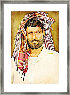 Portrait Of A Man Framed Print by Peter Waters